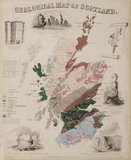 'Geological Map of Scotland', c 1850's.