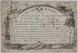Trade card of a seller of navigational instruments, early 19th century.
