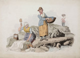 'Welsh Peasants Washing', 1805.