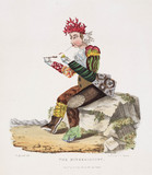'The Minerologist', hand-coloured aquatint, 1830.