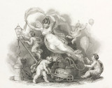 An allegory of gas manufacture, c 1830s.