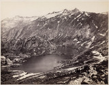 The Lake and Hospice on the Grimsel Pas, Switzerland, c 1850-1900.