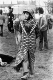 Hippie at Bickershaw pop festival, Lancashire, 1972.