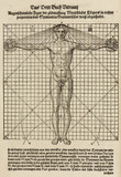 Proportions of a man's body, 1548.