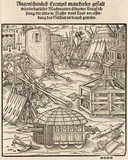 Siege engines and battering rams, 1548.