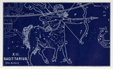 The constellation of Sagittarius (the Archer), 1895.