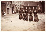 Five female fish-gutters, Whitby, North Yorkshire, c 1905.