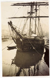 Moored sailing ship, c 1905.