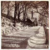 Snow-covered lane, c 1905.