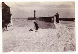 Foam at Whitby Harbour, North Yorkshire, c 1905.