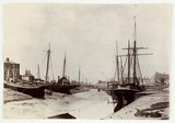 Boats at low tide, c 1890