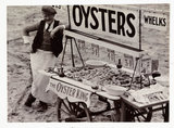 Oyster stall, c 1930.