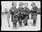 Young bagpipers, 1933.