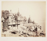 'Burning Ghat, Benares', c 1865.