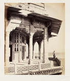 'The Fort, Exterior of the Zendua, Agra', c 1865.