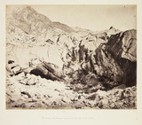 'The Source of the Ganges; - Ice Cave at the Foot of the Glacier', c 1865.