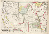 'Map showing the location of the Indian Tribes within the United States', 1852.