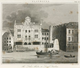 'The Duke's Theatre, in Dorset Gardens', London, c 1820.
