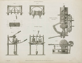 Brunel's scoring machine and machine for making dead eyes, 1820.