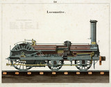 Steam locomotive, 1856.