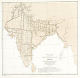 Index chart to the Great Trigonometrical Survey of India, 1870.