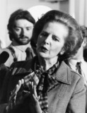 Margaret Thatcher, British politician, c 1980s.