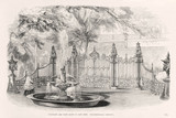 'Fountain and park gates in cast iron, Coalbrookdale Company', 1851.