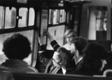 Passengers on Liverpool's new underground, Merseyside, 3 May 1977.