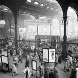 Early morning rush hour at Liverpool Street station, London, 12 October 1951.