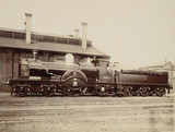 Great Western Railway locomotive, c 1870.