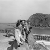 Tourists at Ilfracombe, Devon, 1953.