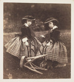 Princess Helena and Princess Louise, 1856.