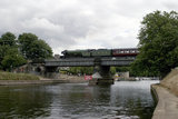 'Flying Scotsman' crossing Scarborough bridge, 21 July 2004.