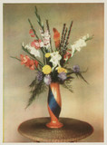 Vase and flowers, 1900s-1930s.