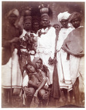 Group of Ceylonese plantation workers, c 1875-1878.