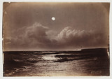Seascape at night, c 1870.