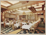Dining saloon on RMS 'Empress of Britain', c 1935.