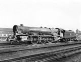 LMS steam turbine locomotive, No. 6202 after Harrow Station Accident 1952