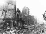 Devastation and destruction in Guernica after the air raid, 29th April 1937.