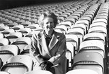 Margaret Thatcher at Bradford Football Club, Yorkshire, February 1987.