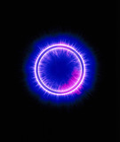 Kirlian photograph of a ring.