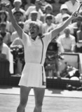 Martina Navratilova, Czech-American tennis player, July 1987.
