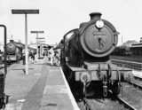 Steam locomotives at Cambridge Station, August 1958.