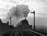 Steam train approaching Wigan Central Station, 24 October 1964.
