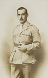 Portrait of Claude Friese-Greene in an Army Flying Corp uniform, Egypt, 1918.