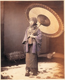 Japanese girl with parasol, c 1864-1867.