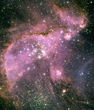 Young stars in the Small Magellanic Cloud, c 1990-2005.