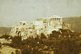 The Acropolis seen from the Pnyx, Athens, 2004.