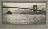 'Brooklyn Bridge from the River', c 1910.