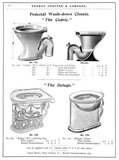 Pedestal wash-down closets, 1902. Pedestal